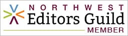 Northwest Editors Guild logo with a green sublime